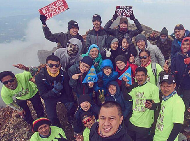 Rudy Trekker Mt Rinjani Summit